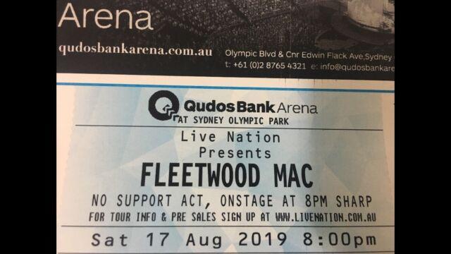 FLEETWOOD MAC TICKET | Concerts | Gumtree Australia Lake