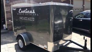 2017 5x8 enclosed trailer  w/barn door