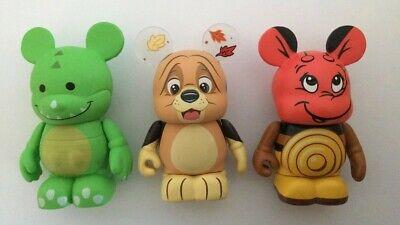 Disney Vinylmation Lot of 3 ~ Park 12 Winnie, Urban 3 Dragon, Hound Copper Dog