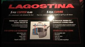 Lagostina 5ply copper clad cookware