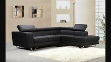 Quebec leather couch with chaise, brand new in packaging. Calamvale Brisbane South West Preview