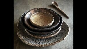 handcrafted stoneware plates