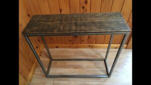 Rustic Industrial Hall/Entry Table