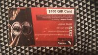 $100 gift card for personal training