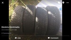 Winter tires with rims 100$