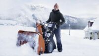 Snow blowing service for you!