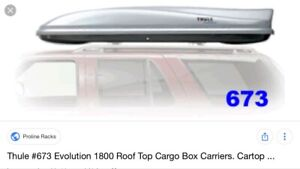 Wanted - Thule Evolution 1800 or 2100
