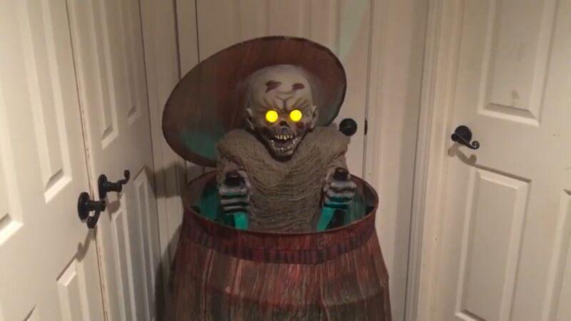 Spirit Halloween Zombie Barrel