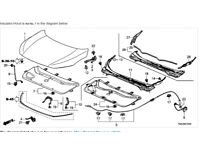 Genuine Honda 83101-SS0-A01 Dashboard Insulator