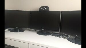 "3x 22"" Monitor LG Hdmi DVI or VGA with boxes"