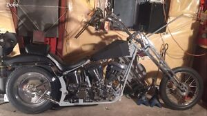 Harley, chopper, bobber, custom, project
