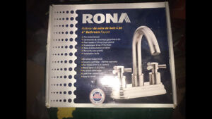 "New Rona 4"" On Center Bathroom Faucet Brushed Nickel"