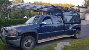 Construction cap and heavy duty ladder rack