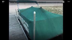 18  pontoon get with a good home made trailer