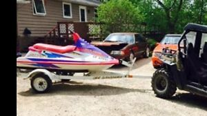 Polaris 750 sea doo @ trailer