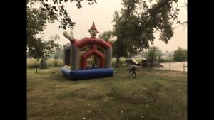 Clown commercial grade bouncy castle with blower