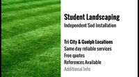Student Independent sod installation