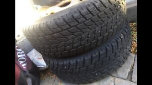 255 70 16 Winter Tires on wheels. Only 2