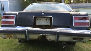 Wanted 1979 Dodge Magnum Tail Lights And Rear Bumper