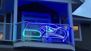 Custom Neon Seahawks Logo 8 feet!