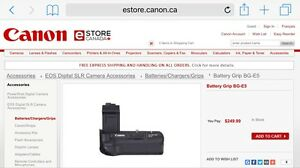 Canon Battery Grip BG-E5 almost new Cambridge Kitchener Area image 2