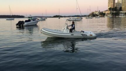 AB boat Inflatable. Volvo diesel 160 HP Elizabeth Bay Inner Sydney Preview
