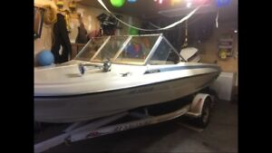 16ft 115hp great ski boat and fishing boat