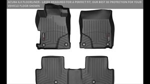 Acura ILX WeatherTech Front and Rear mats - Black