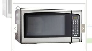 Large 1.1 cu. ft. Stainless steel microwave