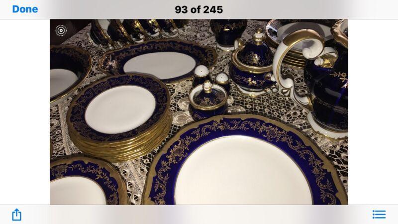 Complete Weimar Katharina 20003 Cobalt Dinner Set-Brand New