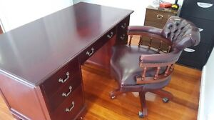 Mahogany desk with matching chair Epping Whittlesea Area Preview