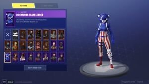 Selling a fortnite rare account with black night, Christmas skin