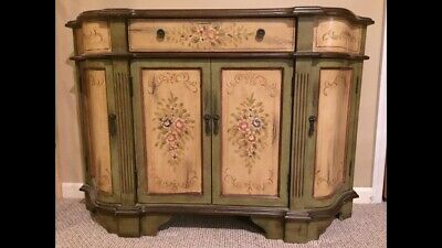 French Country, Painted Console Cabinet