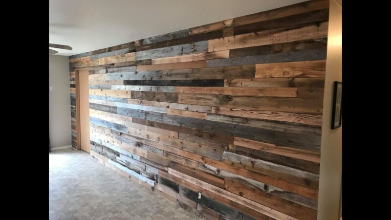 Real reclaimed barnwood wall covering/planks /cladding (50 Sq.Ft.) FREE SHIPPING