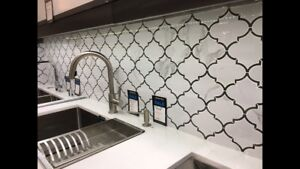 Mosaic tile - gray/white - 6 1/2 sheets 6sq/ft
