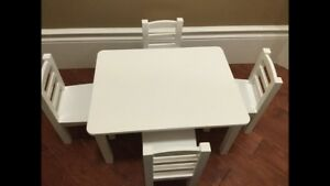Maplelea Brand Doll Table and Chairs. Fits American Girl