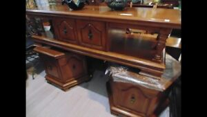 Large coffee table & 2 side tables(trail)