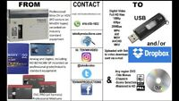 We Convert All Consumer / Commercial Video Tapes To USB / DVD