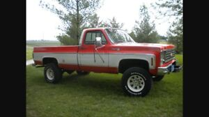 ISO Mid 70's Chevy 3/4 ton pickup truck