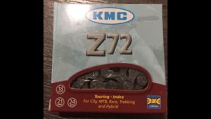 New KMC Z72 6 7 8 Speed Bicycle Chain 12-24spd 1/2x3/32 Road MTB