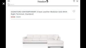 Freedom leather modular sofa