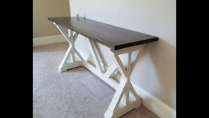 Console table.  19x60x30 high