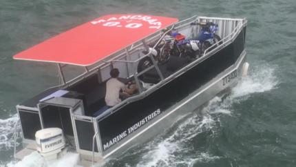 Pontoon landing craft/ Barbcue boat