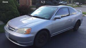 2002 Honda Civic si with winter tires