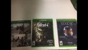 3 XBOX ONE GAMES FOR SALE