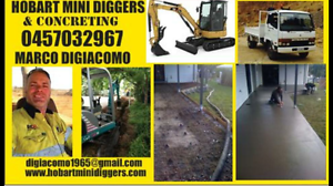 HOBART MINI DIGGERS & CONCRETING New Town Hobart City Preview