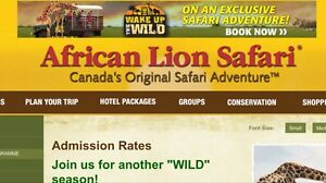 4 tickets to African Lion Safari !!!