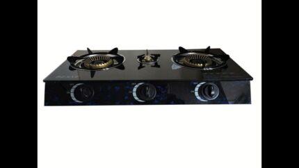 Medium quality brand new glass top 3 burner LPG  gas stove cooktop