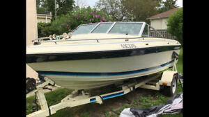 1986 18 foot  Thundercraft Runabout Boat and Trailer