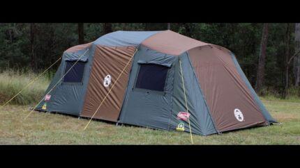 Coleman Northstar Darkroom 10p tent & COLEMAN TENT FAN FOLDUP COLEMAN WITH FOAM BLADES SAFER FOR KIDS ...